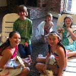 Kids enjoying the heated indoor pool