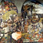 Wandgemälde in Palacio Nacional von Diego Rivera