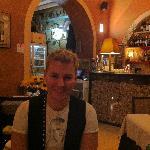 Jordan at the restaurant