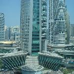 vue de la chambre: tours environnantes et métro
