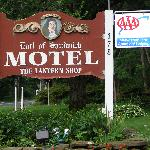 Entrance into Motel
