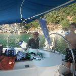 Alex and Captain Peter-Tuti Boni