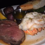 6 oz filet & lobster tail