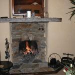 素敵な暖炉で心も温か