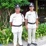 resort guards friendly dudes