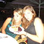 2 daughters enjoying dessert!