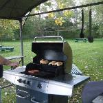 easy to use, sheltered, clean propane grill