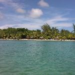 view of resort from kayak