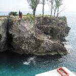 Cliff divers in Negril