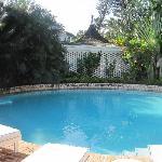 The pool at the villa