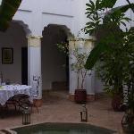Riad's courtyard