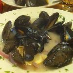 Mussels in a wine sauce