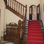 The stairs to the bedrooms