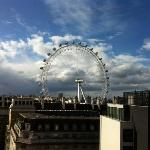 London Eye out the window.