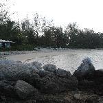 Strand auf der linken Seite