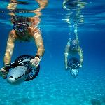 Sea scooter snorkeling
