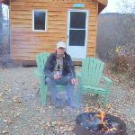 Outside the Jack Wade Cabin