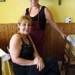 guiseppina ( seated) and Carmela (sister and chef)