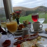 Wonderful View with Veggie Frittata