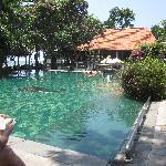 Pool looking towards restaurant