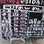 看板(価格表)