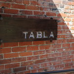 Tabla restaurant sign