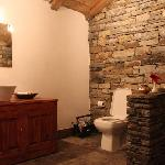 One of the bathrooms - constructed using stone dry stacking technique