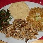 Sultan's chicken shoarma platter