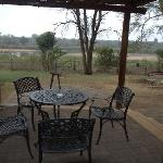View of the Sabie river from the verandah