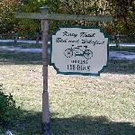 Sign in front of Katy Trail Bed & Bikefest B&B.
