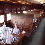 Dine in the TCK 6685 railway carriage