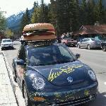 Another view of the Eddie Burger delivery car