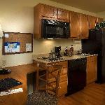 Suites offer a kitchen with a refrigerator, stove, microwave, dishwasher, pots/pan & platewares