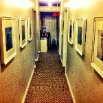 Hallway with work from Local Artists