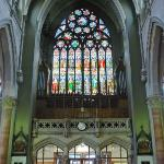 The window above then entrance is amazing from inside