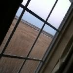 nice window with a beautiful water marsh view ... even saw some guys catching crabs on the bridg