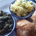 fried chicken ... tater salad ... and fresh green beans