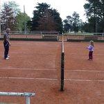 vista cancha de tenis.