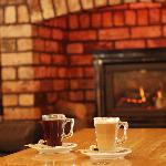 Coffee by the fire with the morning papers