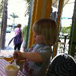 My son enjoying some cubby's ice cream