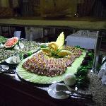 Salad portion of dinner buffet