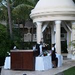 Wedding gazebo bar