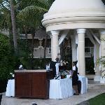 Wedding gazebo bar