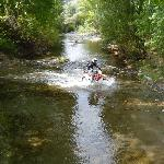 Phil crossing the river Genal.