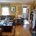 Living room at Carriage House