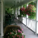 The front porch, great for rocking.