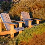 Chairs on the ocean bluff