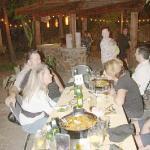 Family at Cafe Malaga on Friday night