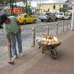 Fresh fruit vendor outside of Mia Leticia
