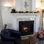 Fireplace in lobby